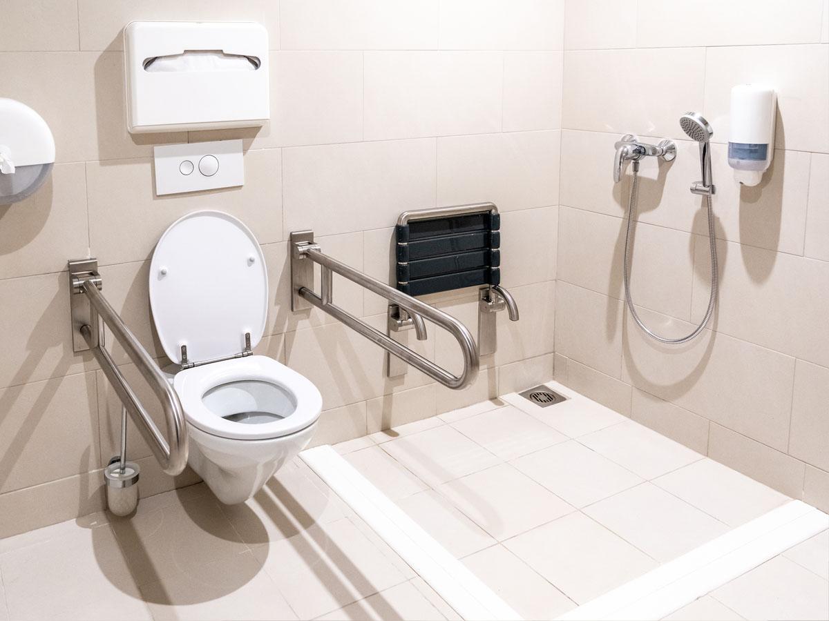 Douche pour handicapés