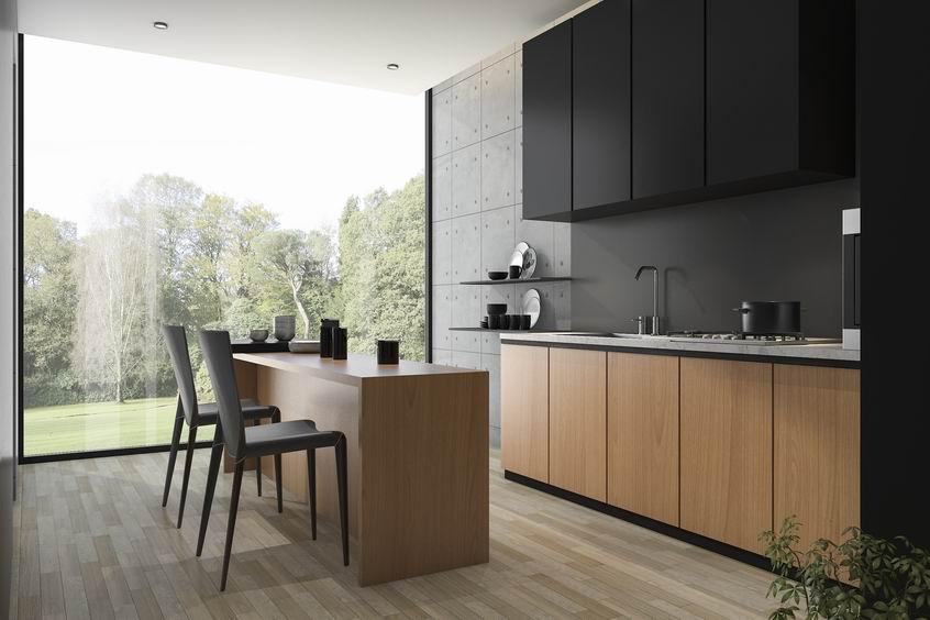 Pose de la nouvelle cuisine en bois