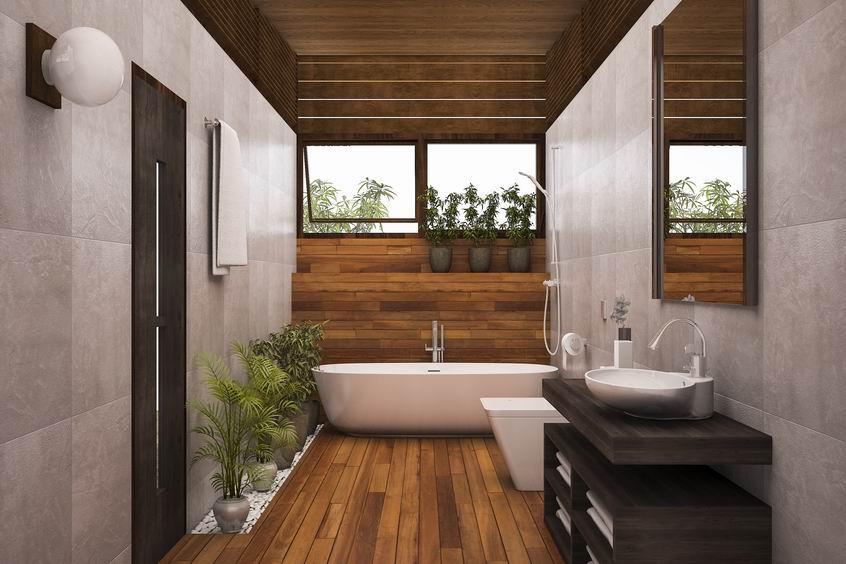 Transformation salle de bain en bois